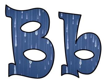April Showers Bulletin Board Letters
