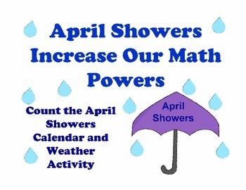 April Showers Calendar, Weather, Math Activity