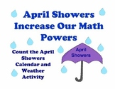 April Showers Calendar, Weather, Math Activity