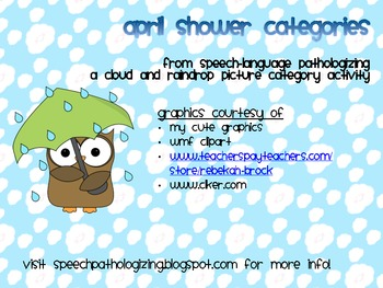 April Showers Categories