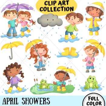 April Showers Clip Art Collection (FULL COLOR ONLY)