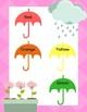 April Showers Color Match: File Folder Game