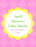 April Showers Color Match: File Folder Game