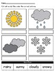 April Showers Differentiated Weather Worksheets for Special Education/Autism
