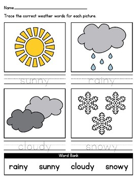 april showers differentiated weather worksheets for special education autism. Black Bedroom Furniture Sets. Home Design Ideas