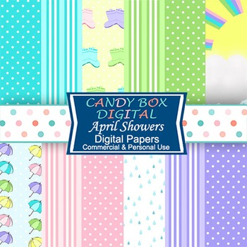April Showers Digital Background Papers
