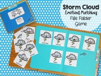 April Showers Emotions Matching File Folder Game