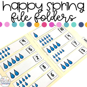 April Showers File Folder Activities for Special Education