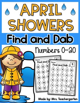 April Showers Find and Dab (Numbers 0-20)