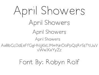 April Showers Free Font