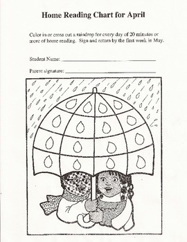 April Showers Home Reading Chart