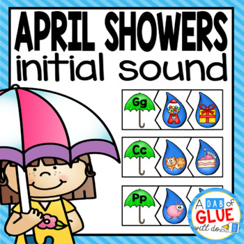 April Showers Initial Sound Match-Up Puzzles