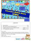 April Showers Interactive Bulletin Board