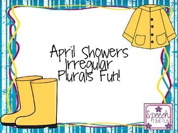 April Showers Irregular Plurals