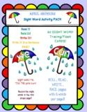 April Showers Kindergarten Sight Word Activity Pack #lovin