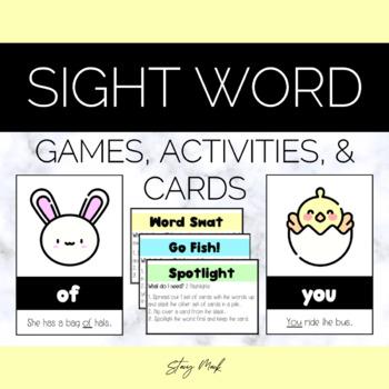 April Showers Kindergarten Sight Word Cards