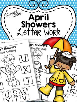 April Showers Letter Work