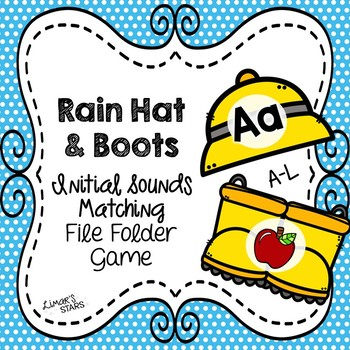 April Showers Letter to Initial Sound File Folder Game A-L