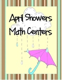 April Showers Math Centers