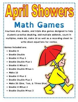 April Showers Math Games