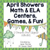 April Showers Math & ELA Centers, Games, & Fun {Common Core-Aligned}