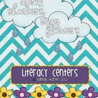 April Showers, May Flowers Literacy Centers