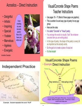 Poetry Month April Showers = May Flowers Rescue Dogs' Part 1 SPED/ELL