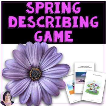 Receptive & Expressive Language Spring Flowers Activity & Game