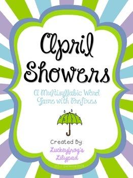April Showers! Multisyllabic Words with Prefixes Decoding/