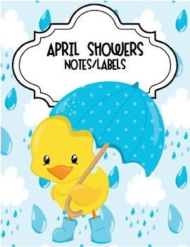 April Showers Notes and Labels