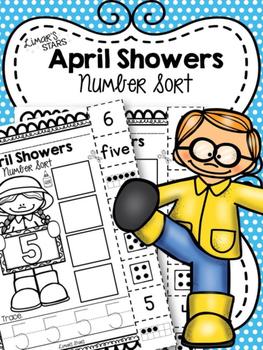 April Showers Number Sort 1-10