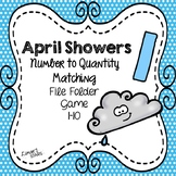April Showers Number to Quantity File Folder Game 1-10