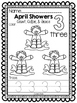 April Showers Numbers 1-10: Count, Color, & Trace