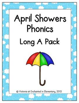April Showers Phonics: Long A Pack