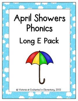April Showers Phonics: Long E Pack