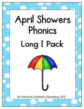 April Showers Phonics: Long I Pack