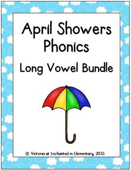 April Showers Phonics: Long Vowel Bundle