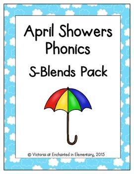 April Showers Phonics: S-Blends Pack