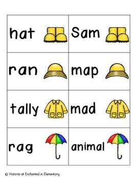April Showers Phonics: Short A Pack