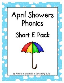 April Showers Phonics: Short E Pack