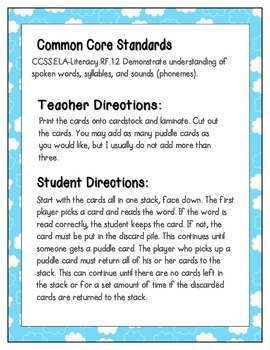 April Showers Phonics: Short I Pack
