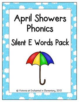 April Showers Phonics: Silent E Words Pack