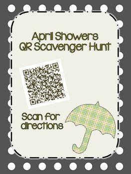 April Showers  QR Scavenger Hunt