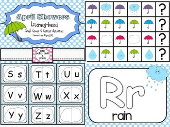 April Showers (Rain / Weather) Literacy and Math Small Gro