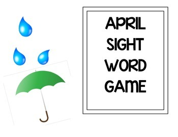 April Showers Sight Words