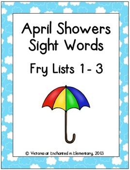 April Showers Sight Words! Bundle of Fry Lists 1-3