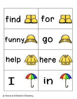 April Showers Sight Words! Complete Set of 220 Sight Words