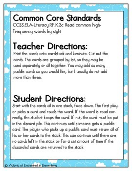 April Showers Sight Words! First Grade List Pack
