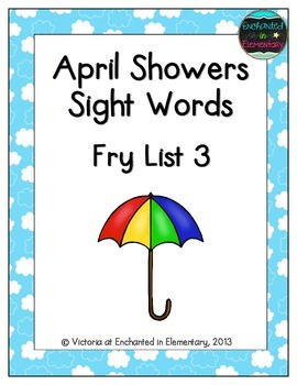 April Showers Sight Words! Fry List 3