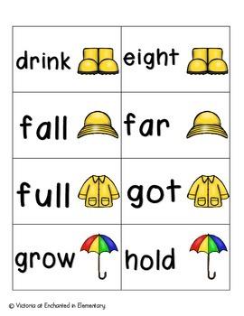 April Showers Sight Words! Third Grade List Pack